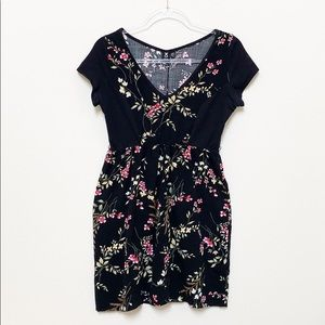 Urban Outfitters Urban Renewal Black Floral Dress